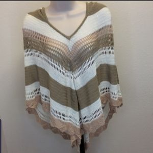 NWT Charlotte Russe Hooded poncho.